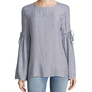 Beachlunchlounge Striped Bell Sleeve Top
